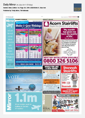28-Jul Daily Mirror Hotel Exclusives Ad
