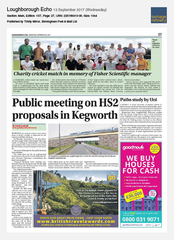 13-Sep Loughborough Echo On The Go Tours