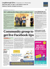 27-Sep Loughborough Echo Shearings Holidays