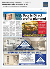 21-Jul Newcastle Chronicle Avis Ad