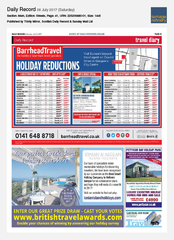 08-Jul Scottish Daily Record Ionian Island Holidays Ad