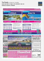 20-Aug Sunday People Teletext Holidays Ad