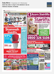 27-Sep Daily Mirror Prize Draw